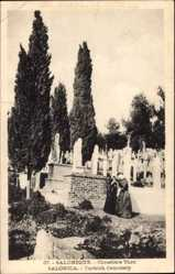 Postcard Saloniki Griechenland, Cimetière Turc, Türkischer Friedhof