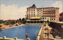 Postcard Termas de Luso Portugal, Grande Hotel e Piscina, Schwimmbecken