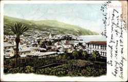 Postcard Insel Madeira Portugal, Teilansicht vom Ort, Hafen