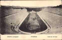 Postcard Athen Griechenland, Vue du Stade, Hippodrom, Stadion