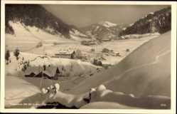 Postcard Tiefenbach Oberstdorf im Oberallgäu, Verschneite Ortschaft