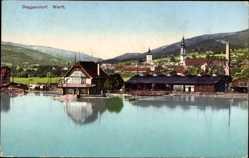 Postcard Deggendorf Niederbayern, Totalansicht des Ortes, Werft