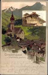 Künstler Litho Schmidt, Walther, Gossensaß Südtirol, vom Schelleberg gesehen