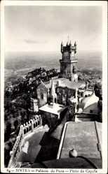 Postcard Cintra Sintra Portugal, Palacio da Pena, Patio da Capela
