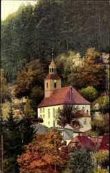 Postcard Oybin in Sachsen, Nenke und Ostermaier Serie 213 Nr. 3539, Die Kirche