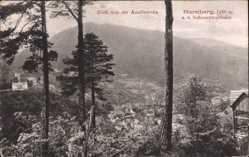 Postcard Hornberg im Ortenaukreis, Blick von der Amalienruhe auf den Ort