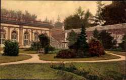 Postcard Weilburg, Schloss, Gartenanlage, Gewächshaus, Spazierweg