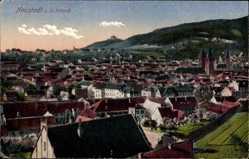 Postcard Neustadt an der Haardt Weinstraße, Stadtpanorama, Glockentürme, Häuser