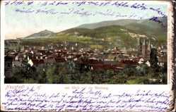 Postcard Neustadt an der Haardt Weinstraße, Stadtpanorama, Maxburg, Felder