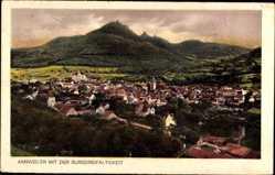 Postcard Annweiler, Stadtpanorama, Burg Dreifaltigkeit, Gebäude, Felder, Wald