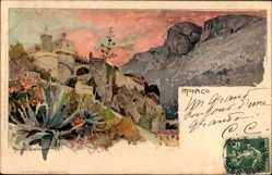 Künstler Litho Wielandt, Manuel, Monaco, Prinzenpalast