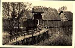 Foto Ak Uhldingen Mühlhofen Bodensee, Freilichtmuseum, Wehrpalisade