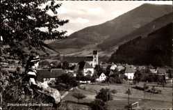 Postcard Simonswald Schwarzwald, Stadtpanorama, Glockenturm, Berghänge