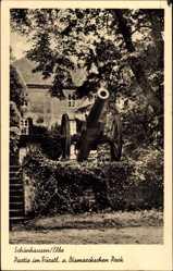 Postcard Schönhausen a.d. Elbe, Partie im Fürstl. und Bismarckschen Park