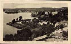 Postcard Binenwalde Neuruppin in Brandenburg, Ortschaft am Kalksee