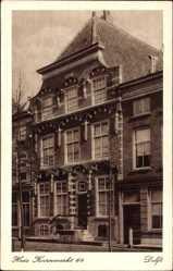 Postcard Delft Südholland Niederlande, Huis Koornmarkt 64
