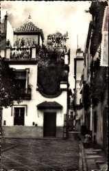 Postcard Sevilla Andalusien, Plaza de Dona Elvira, Platz