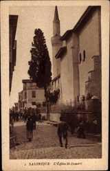 Postcard Saloniki Griechenland, vue générale de l'Eglise St. Demetri