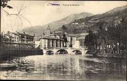 Postcard Tolosa Baskenland Spanien, Puente de Navarra, Brücke, Fluss