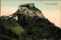 Postcard Mühlhausen Ehingen, Blick auf die Ruine Hohenkrähen, Felsmassiv