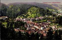 Postcard Triberg im Schwarzwald, Blick vom 3 Kaiserfelsen auf den Ort