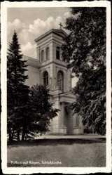 Postcard Putbus auf der Insel Rügen, Ansicht der Schlosskirche
