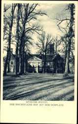 Postcard Münster in Westfalen, der bischöfliche Hof auf dem Domplatz