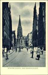 Postcard Münster in Westfalen, Ansicht vom Prinzipalmarkt mit Kirche