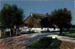 Postcard Arendsee Altmark, Ansicht altes Bauernhaus mit Strohdach