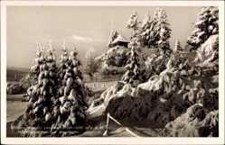 Postcard Lenzkirch im Hochschwarzwald, Blockhütte, Winter, Schnee