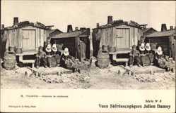 Stereo Ak Tolhuis, Cabanes de pêcheurs, Niederländische Fischerhütten