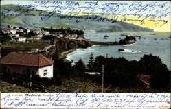 Postcard Funchal Madeira Portugal, Küstenansicht, Bucht, Haus