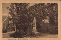 Postcard Fedderwarden Wilhelmshaven in Niedersachsen, Ansicht vom Kriegerdenkmal