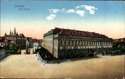 Postcard Ansbach in Mittelfranken Bayern, Ansicht vom königlichen Schloss