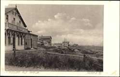 Postcard Norddorf Insel Amrum in Nordfriesland, Blick auf Hospiz III, Dünen