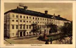Postcard Mannheim in Baden Württemberg, Ansicht vom Nationaltheater
