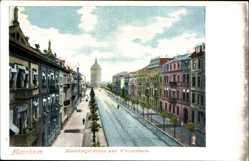 Postcard Mannheim in Baden Württemberg, Heidelbergerstraße und Wasserturm