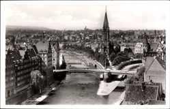 Postcard Pforzheim im Schwarzwald Baden Württemberg,Zusammenschluss von Enz und Nagold