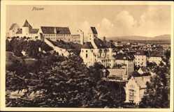 Postcard Füssen im schwäbischen Kreis Ostallgäu, Blick auf den Ort mit Schloss
