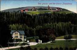 Postcard Brotterode Trusetal Thüringen, Der grosse und der kleine Inselsberg