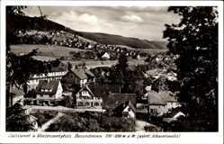Postcard Baiersbronn im Kreis Freudenstadt, Blick über die Dächer der Stadt