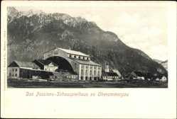Postcard Oberammergau in Oberbayern, Das Passionshaus Schauspielhaus