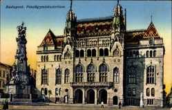 Postcard Budapest Ungarn, Pénzügyminisztérium, Ministerium der Finanzen