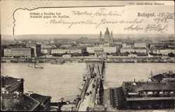 Passepartout Ak Budapest Ungarn, Aussicht gegen die Basilika, Brücke