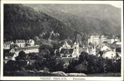 Postcard Trenčianske Teplice Trentschin Teplitz Slowakei, Panorama, Ort, Kirche