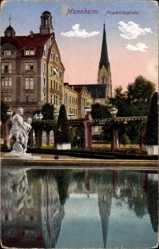 Postcard Mannheim in Baden Württemberg, Blick auf Häuser am Friedrichsplatz