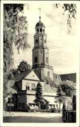 Postcard Leer in Niedersachsen, Blick auf die Reformierte Kirche
