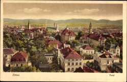 Postcard Zittau in der Oberlausitz, Totalansicht der Stadt