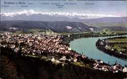 Postcard Waldshut Tiengen am Hochrhein, Blick auf den Ort, Kaiserstock, Churfirsten