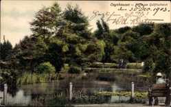 Postcard Bad Oeynhausen in Nordrhein Westfalen, Partie am Goldfischteich